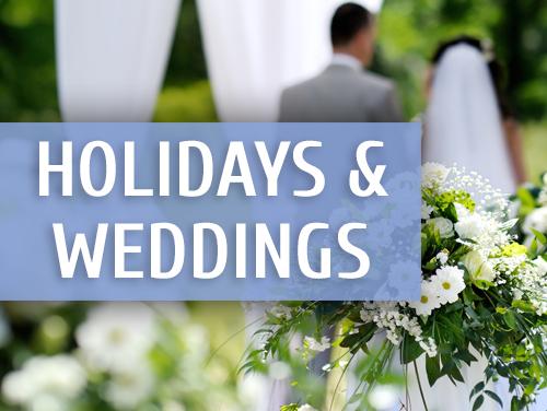 Holidays & Weddings